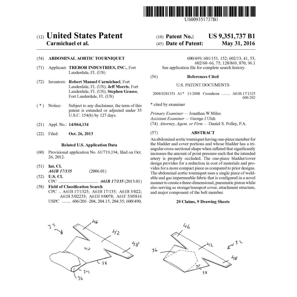 Abdominal Aortic Tourniquet Patent - Robert Carmichael